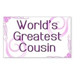 World's Greatest Cousin Rectangle Sticker