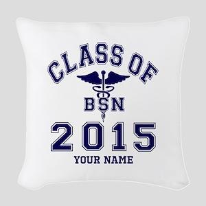 Class Of 2015 BSN Woven Throw Pillow