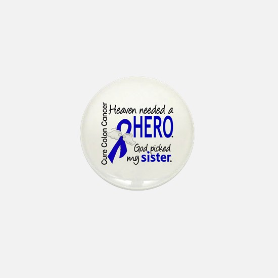 Colon Cancer HeavenNeededHero1.1 Mini Button