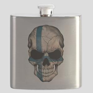 Finnish Flag Skull Flask