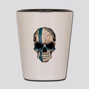 Finnish Flag Skull Shot Glass
