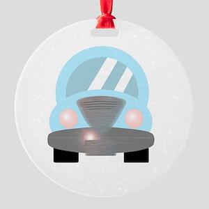 Cute Baby Blue Car 2 Ornament