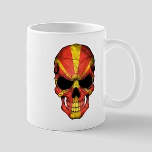 Macedonian Flag Skull Mugs