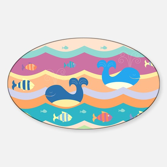 Cute Whales Decal