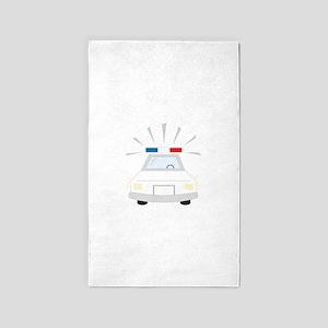 Police Car 3'x5' Area Rug