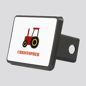 Personalised Red Tractor Rectangular Hitch Cover