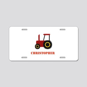 Personalised Red Tractor Aluminum License Plate