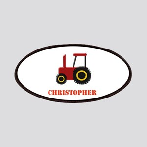 Personalised Red Tractor Patches