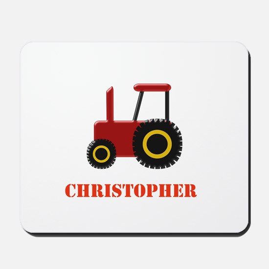 Personalised Red Tractor Mousepad