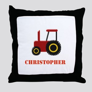 Personalised Red Tractor Throw Pillow