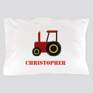 Personalised Red Tractor Pillow Case