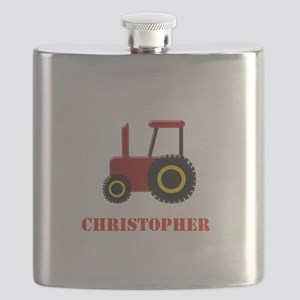 Personalised Red Tractor Flask