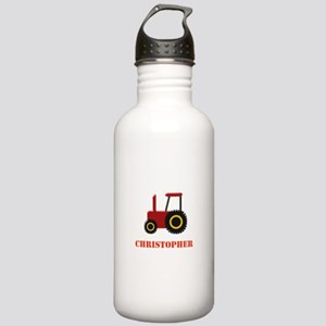 Personalised Red Tractor Sports Water Bottle