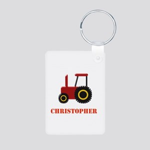 Personalised Red Tractor Keychains