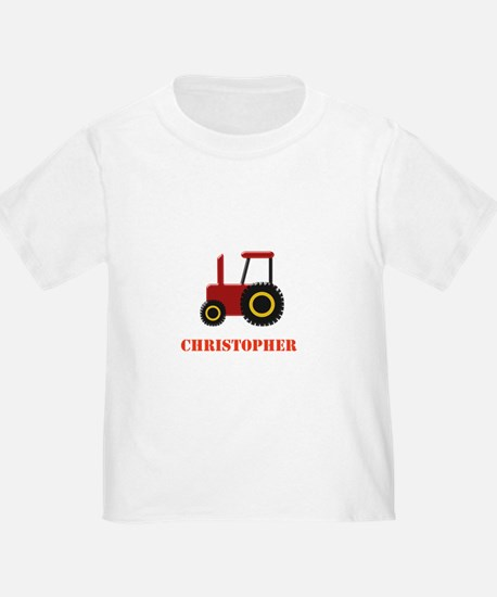Personalised Red Tractor T-Shirt