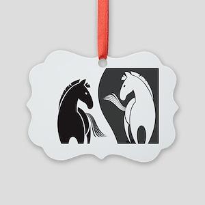 Yin Yang Horses Ornament