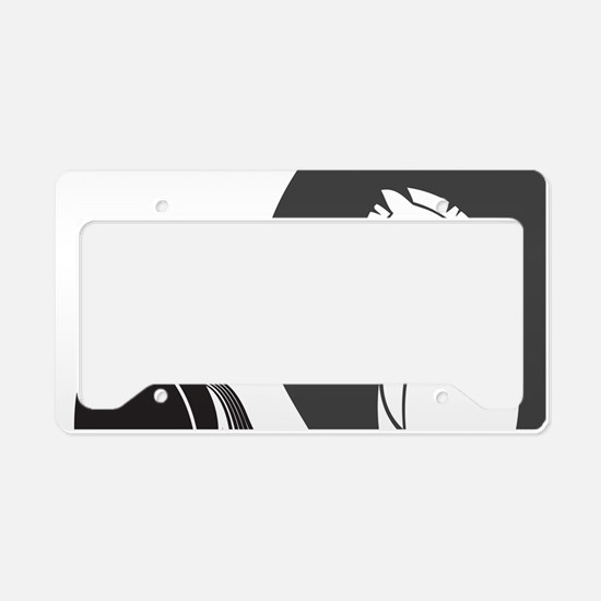 Yin Yang Horses License Plate Holder