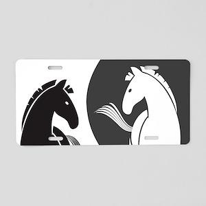 Yin Yang Horses Aluminum License Plate