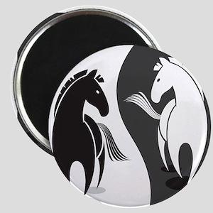 Yin Yang Horses Magnets