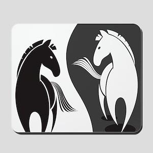 Yin Yang Horses Mousepad