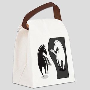 Yin Yang Horses Canvas Lunch Bag