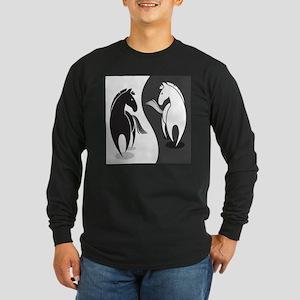 Yin Yang Horses Long Sleeve T-Shirt