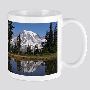 Mount Rainier Stainless Steel Travel Mugs