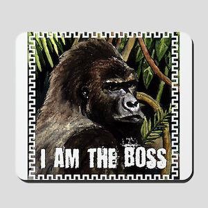 gorilla i am the boss Mousepad
