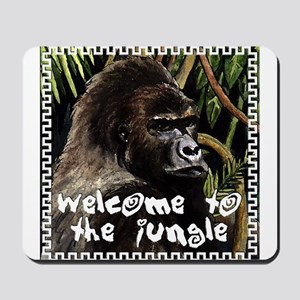 gorilla - welcome to tje jungle Mousepad