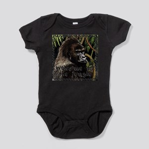 gorilla - welcome to tje jungle Baby Bodysuit