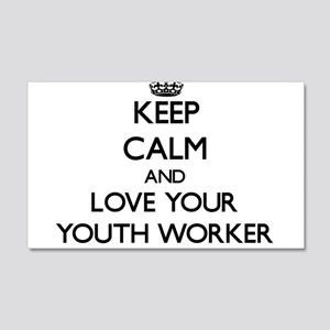 Keep Calm and Love your Youth Worker Wall Decal