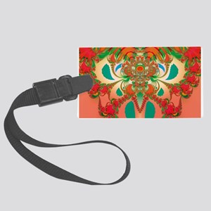 Abstract Red Owl Luggage Tag