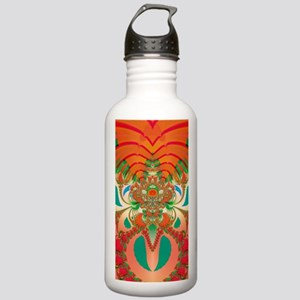 Abstract Red Owl Water Bottle