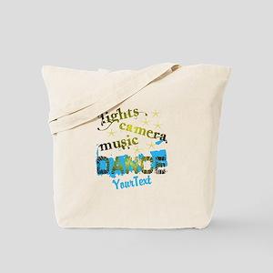 Lights Dance Optional Text Tote Bag