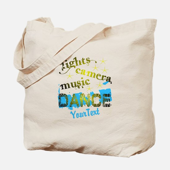 Lights Dance Optional Text Tote Bag