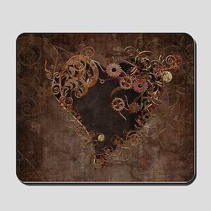 Steampunk Heart Mousepad