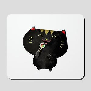 Black Sushi Cat Mousepad