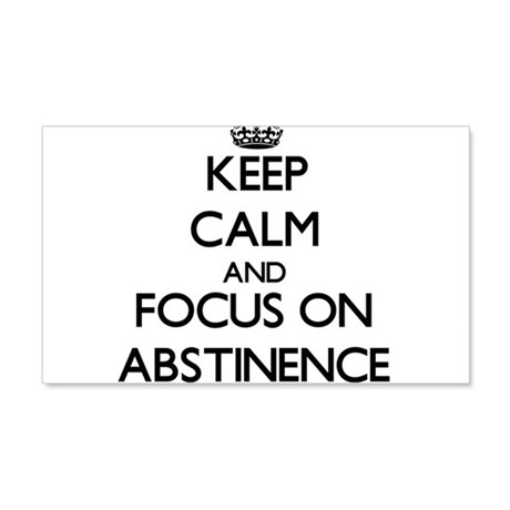 Keep Calm And Focus On Abstinence Wall Decal by foodshirts