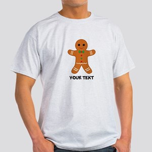 Personalized Gingerbread Man Light T-Shirt