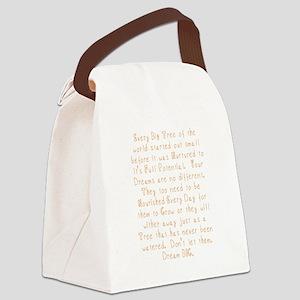 Nurture Your Dreams Canvas Lunch Bag