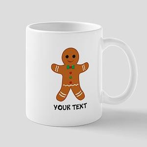 Personalized Gingerbread Man 11 oz Ceramic Mug