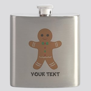 Personalized Gingerbread Man Flask