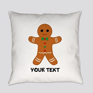 Personalized Gingerbread Man Everyday Pillow