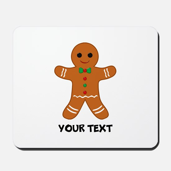 Personalized Gingerbread Man Mousepad