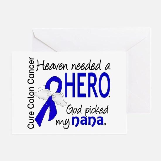 Colon Cancer HeavenNeededHero1.1 Greeting Card