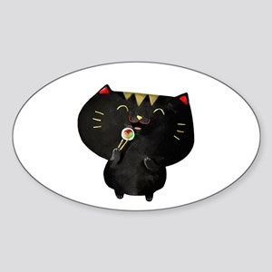 Black Sushi Cat Sticker