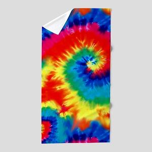 Psychedelic Tie Dye Pattern Beach Towel