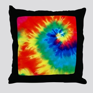 Psychedelic Tie Dye Pattern Throw Pillow