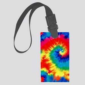 Psychedelic Tie Dye Pattern Luggage Tag