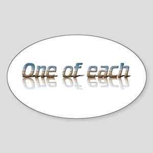 Twins - one of each Oval Sticker